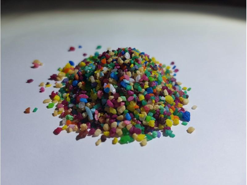Мраморный песок цветной светлый mix